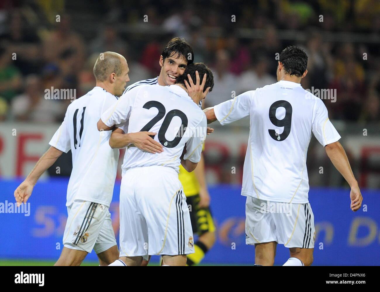 Real Madrid s L R Cristiano Ronaldo Arjen Robben Kaka and