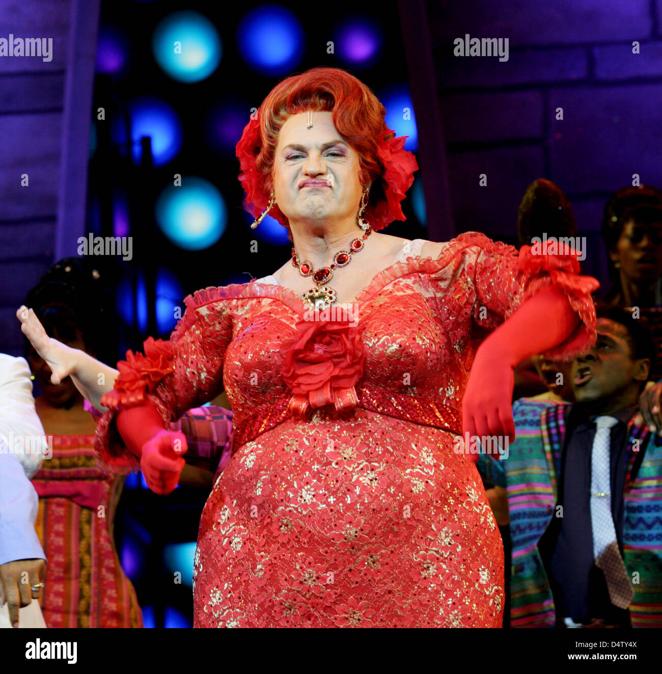 German actor Uwe Ochsenknecht as Edna Turnblad performs in the Stock Photo, Royalty Free Image ...