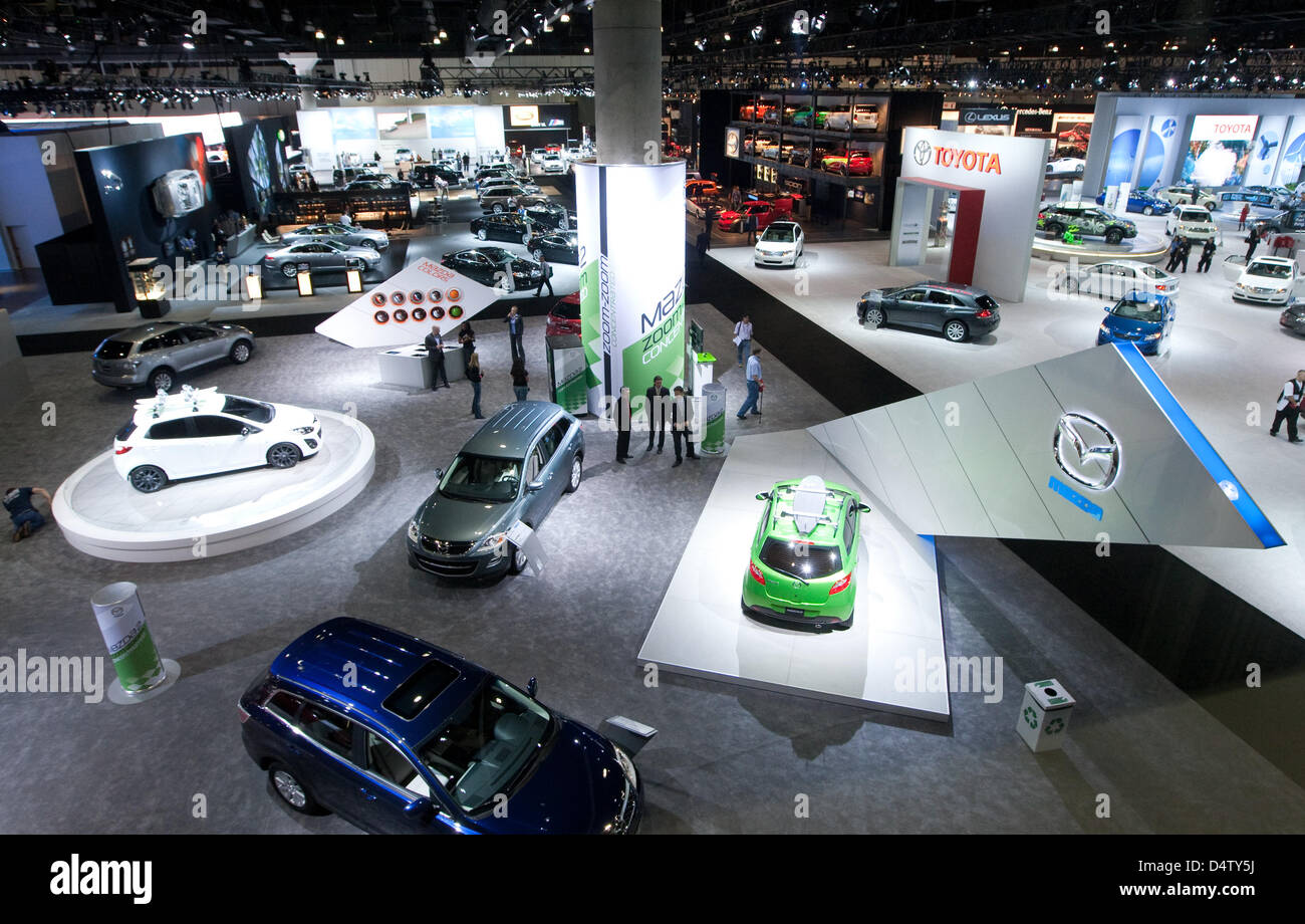 Cars Of Mazda And Toyota Stand At The LA Auto Show In Los Angeles - Mazda dealerships los angeles