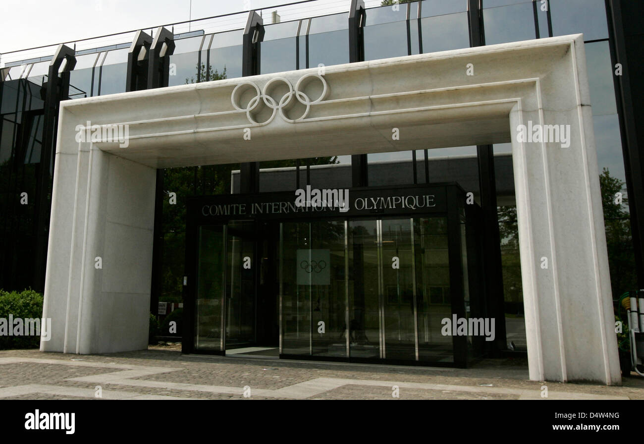 The entrance of the IOC (International Olympic Committee ...