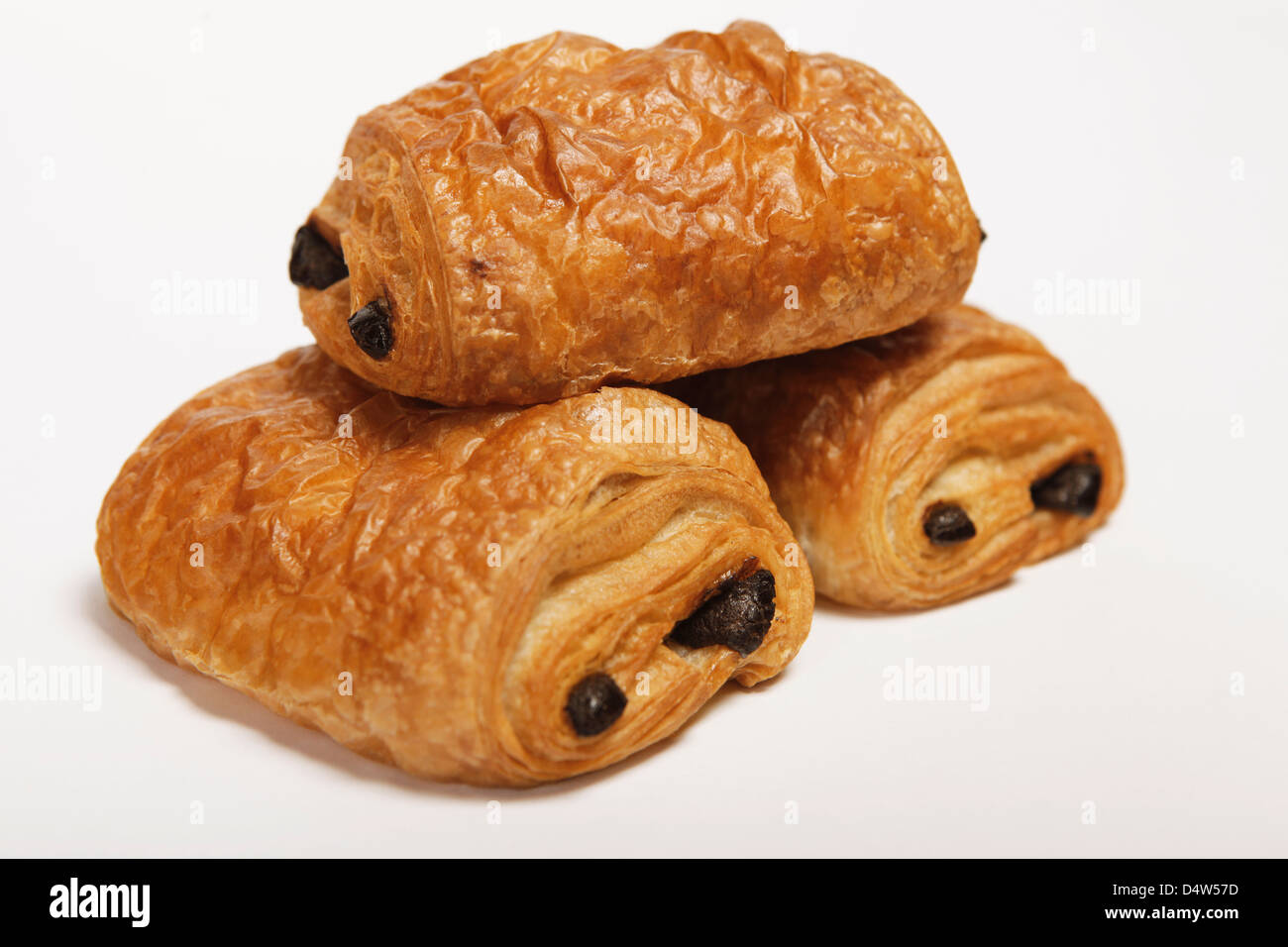 three times chocolate croissant Stock Photo, Royalty Free Image ...
