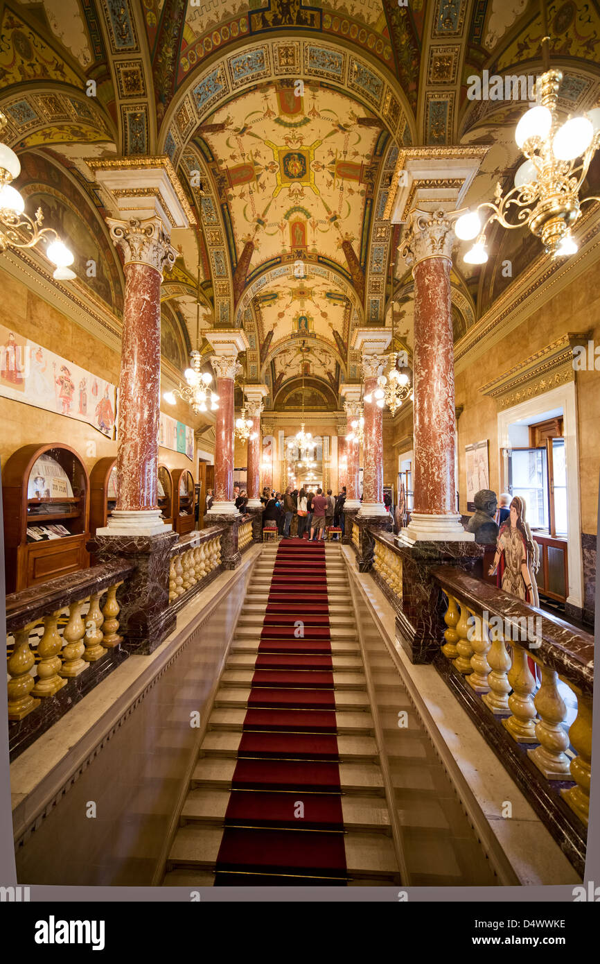 Opera House Foyer : Budapest opera house interior staircase and foyer hungary