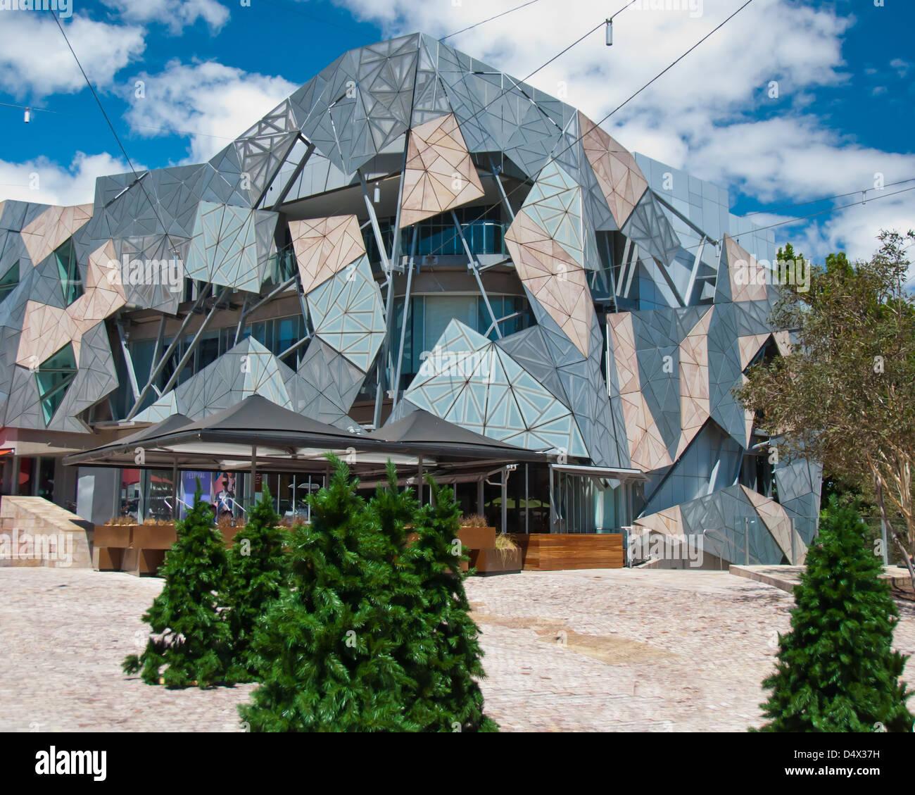 Christmas Trees Melbourne: Federation Square, Melbourne, Australia. Christmas Trees