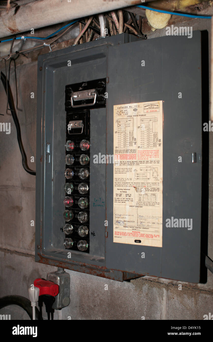 old style fuse box D4YK15 old style fuse box stock photo, royalty free image 54697361 alamy old breaker box fuses at bakdesigns.co