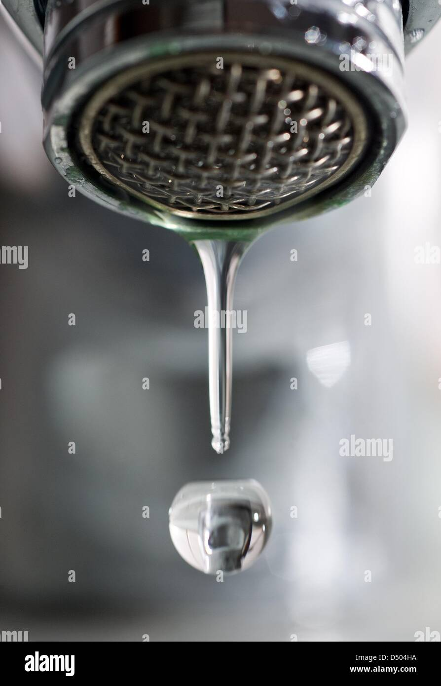 A water drops drips down a tap in Frankfurt (Oder), Germany, 21 ...