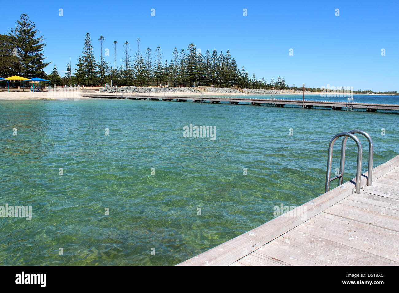 Shark Proof Swimming Pool In The Calm Indian Ocean At Busselton Stock Photo Royalty Free Image