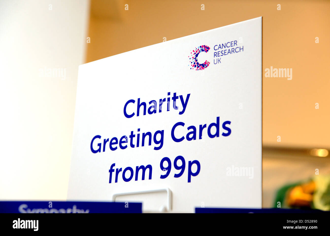 Charity greetings cards stand at a cancer research uk charity shop charity greetings cards stand at a cancer research uk charity shop kristyandbryce Images
