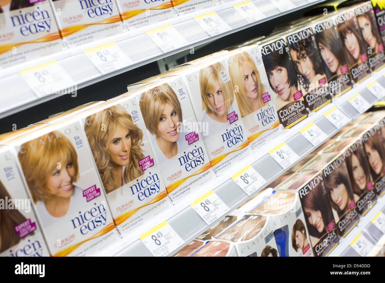 Clairol Hair Dye Products On Display At A Walgreens