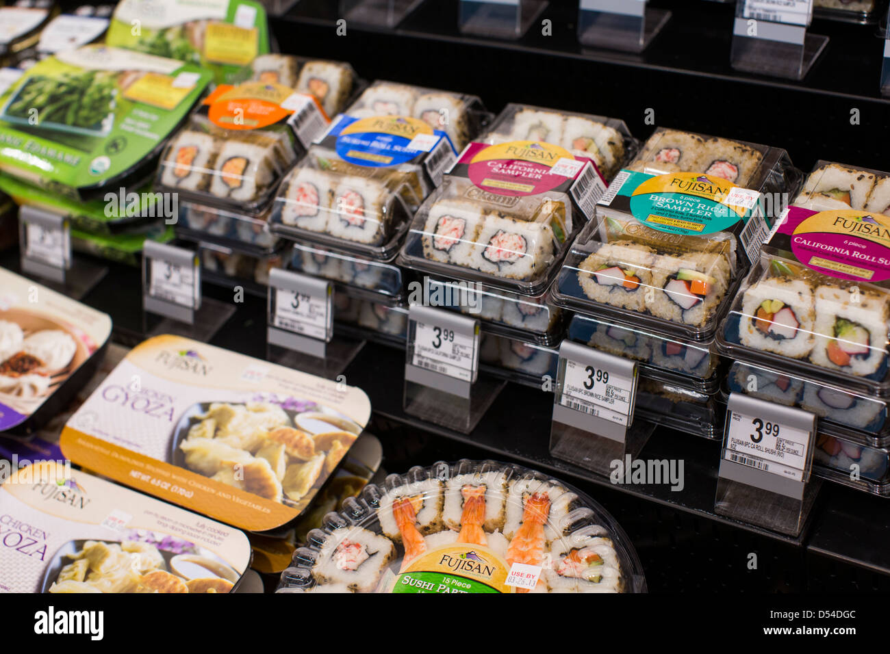 sushi shop stock photos sushi shop stock images alamy pre made sushi on display at a walgreens flagship store stock image