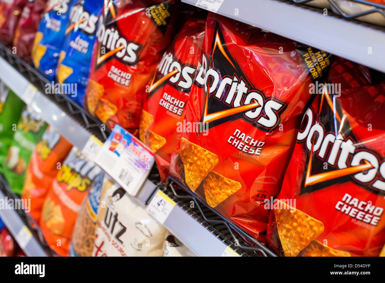 potato chips grocery stock photos potato chips grocery stock lay s utz and doritos potato chips on display at a walgreens flagship store