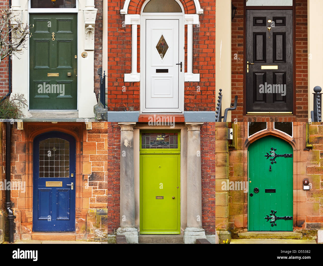 A selection of residential front doors good for estate for Residential front doors
