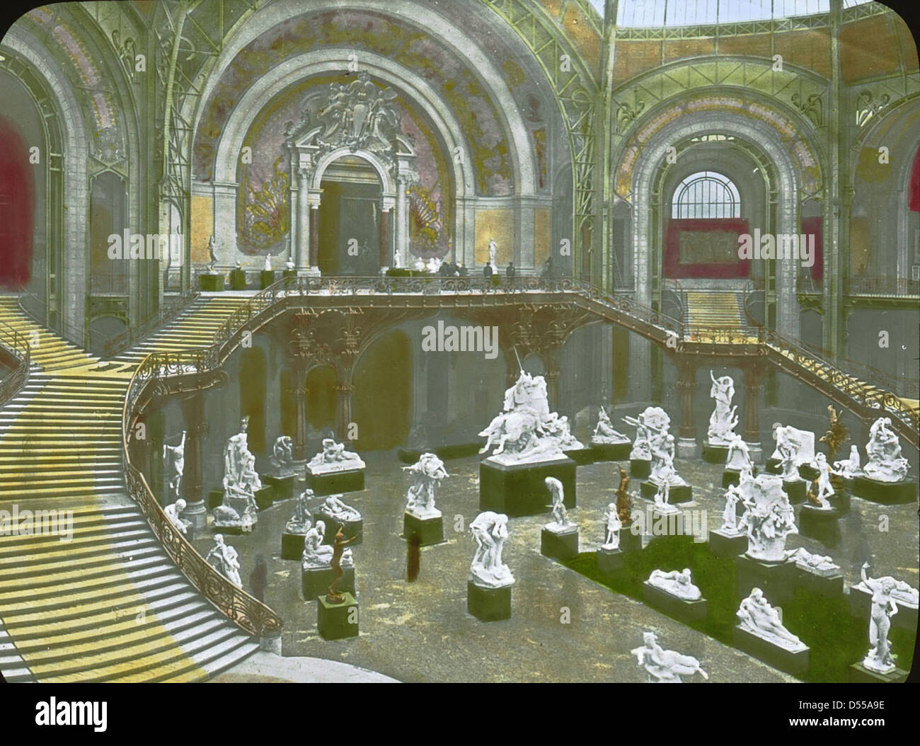 Paris exposition grand palais paris france 1900 the interior of stock photo royalty free - Grand palais expo horaires ...