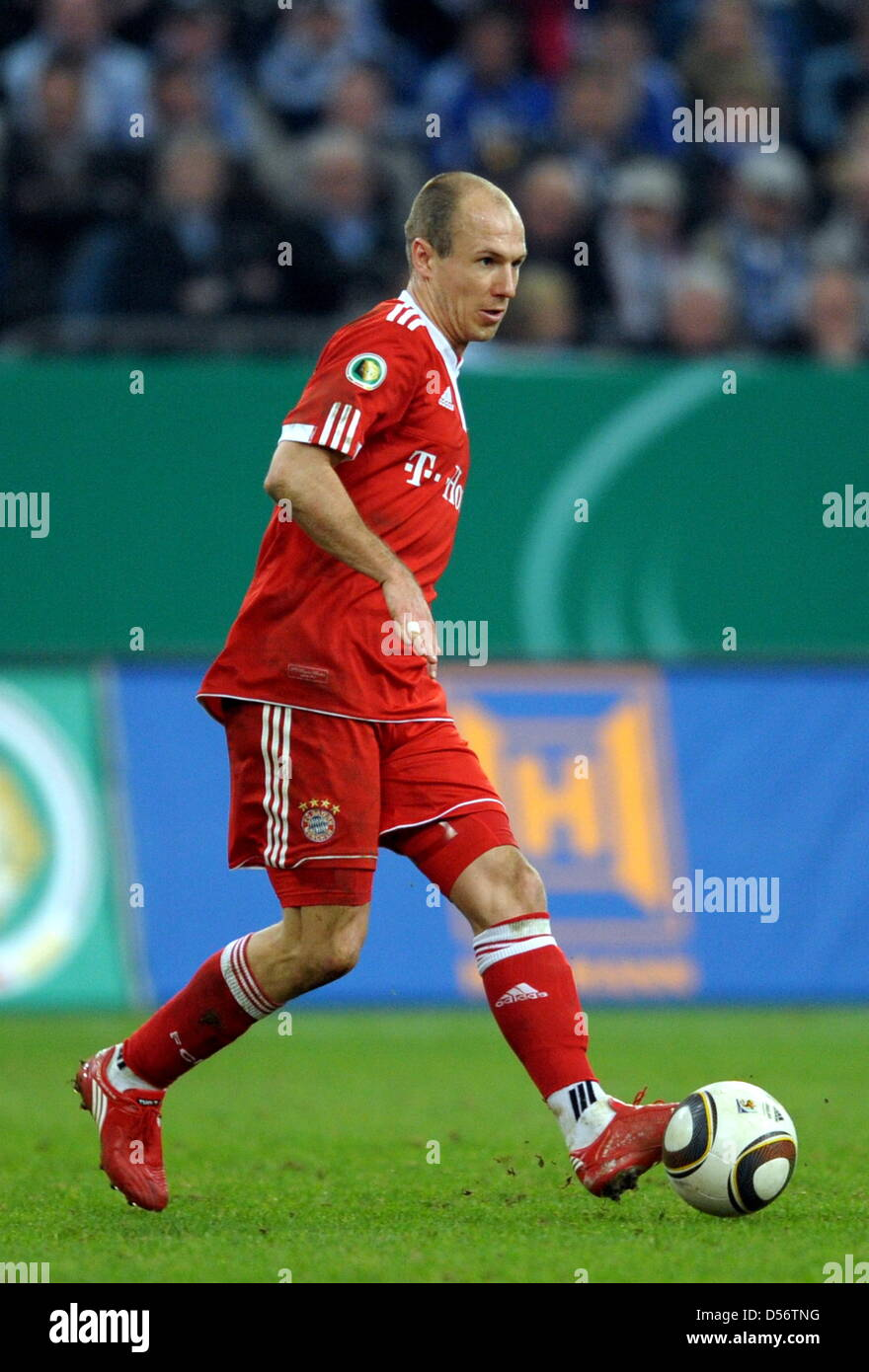 Munich s Arjen Robben in action during the DFB Cup match FC
