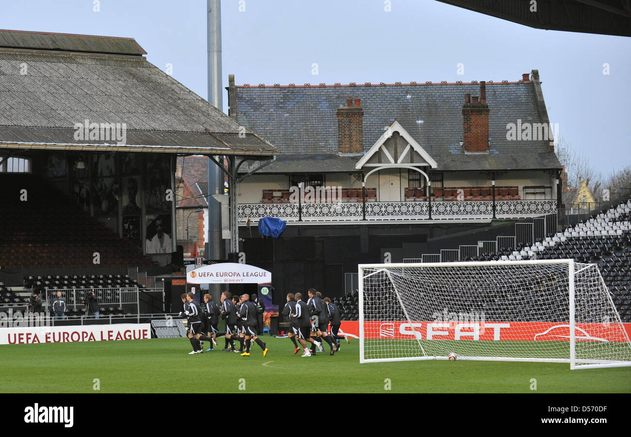 View On Craven Cottage During Uefa Europa League Quarter