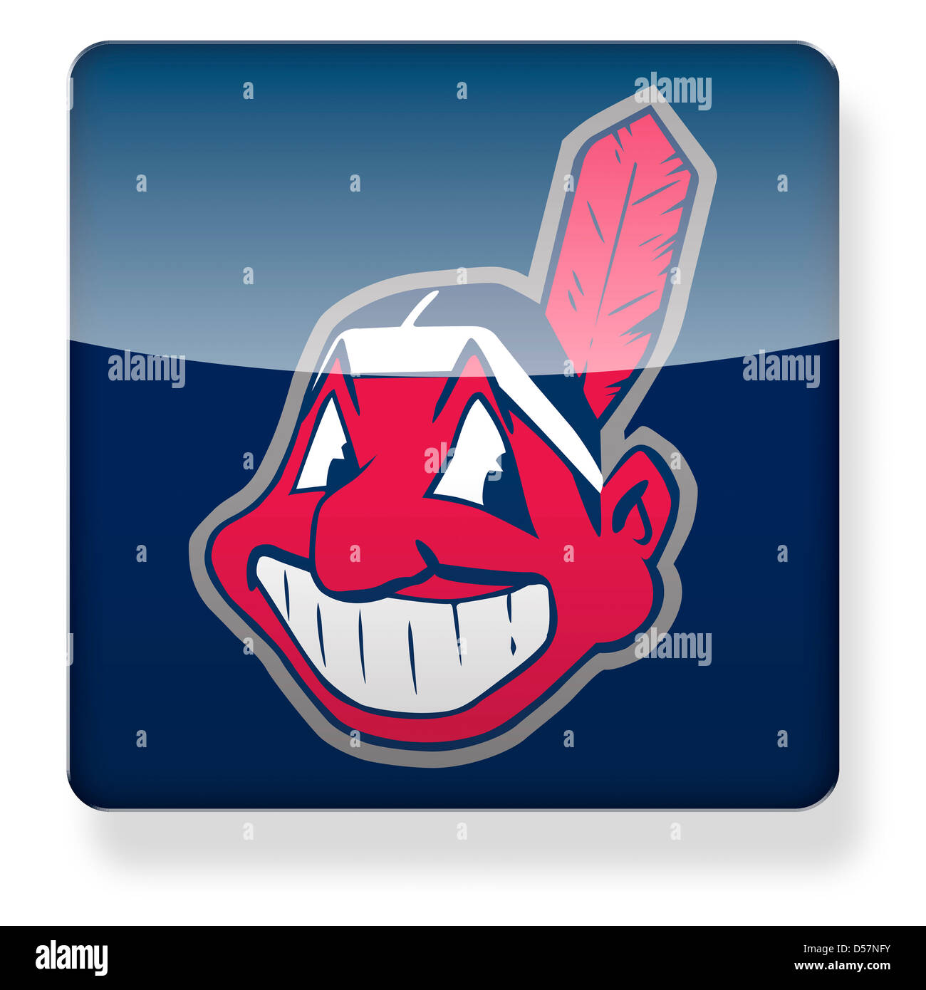 Cleveland indians stock photos cleveland indians stock images cleveland indians baseball cap logo as an app icon clipping path included stock biocorpaavc Choice Image
