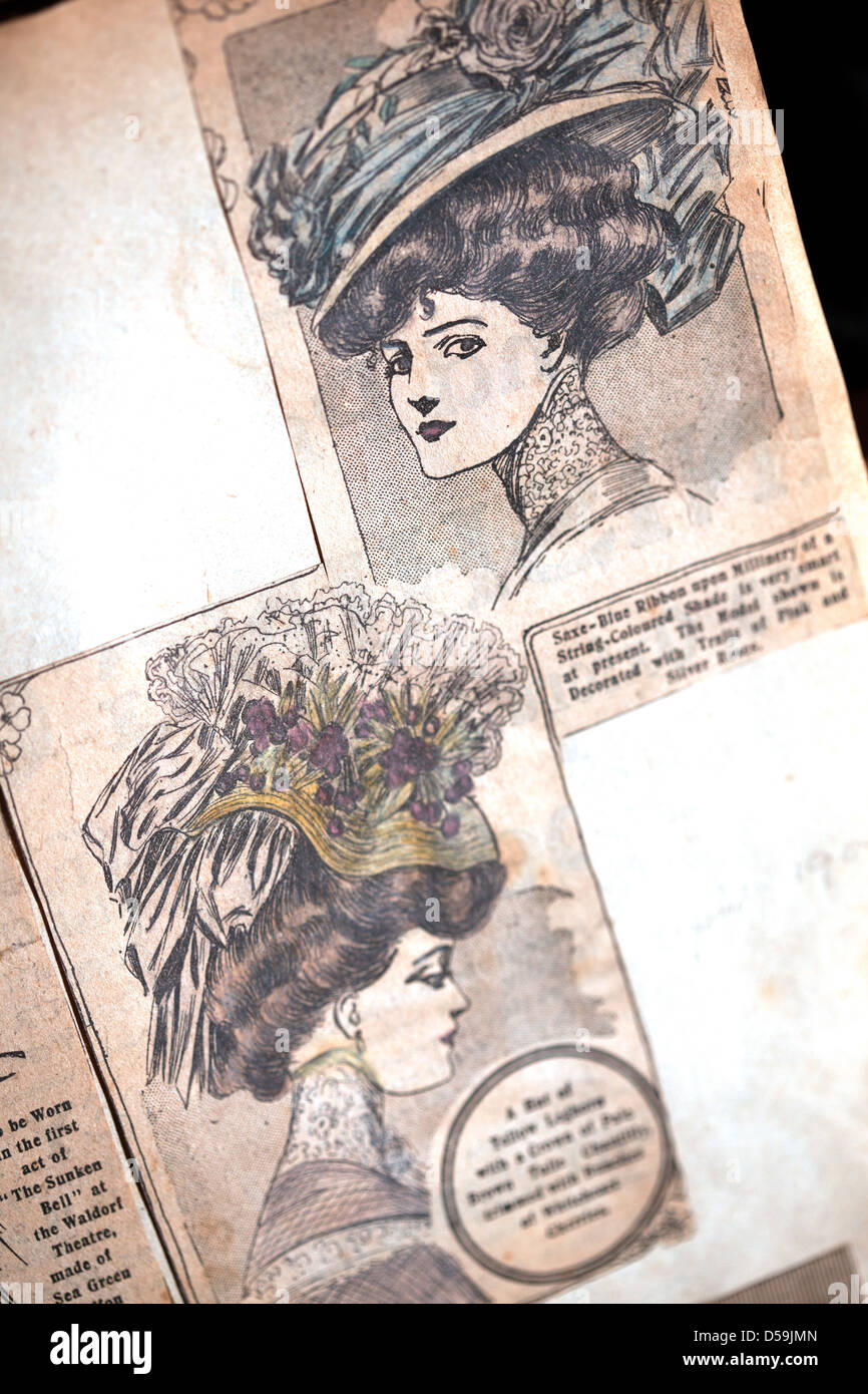 How to scrapbook uk - Pages From A Scrapbook Showing Fashions Of 1900 S Lot For Sale At Montrose Auctions Scotland Uk