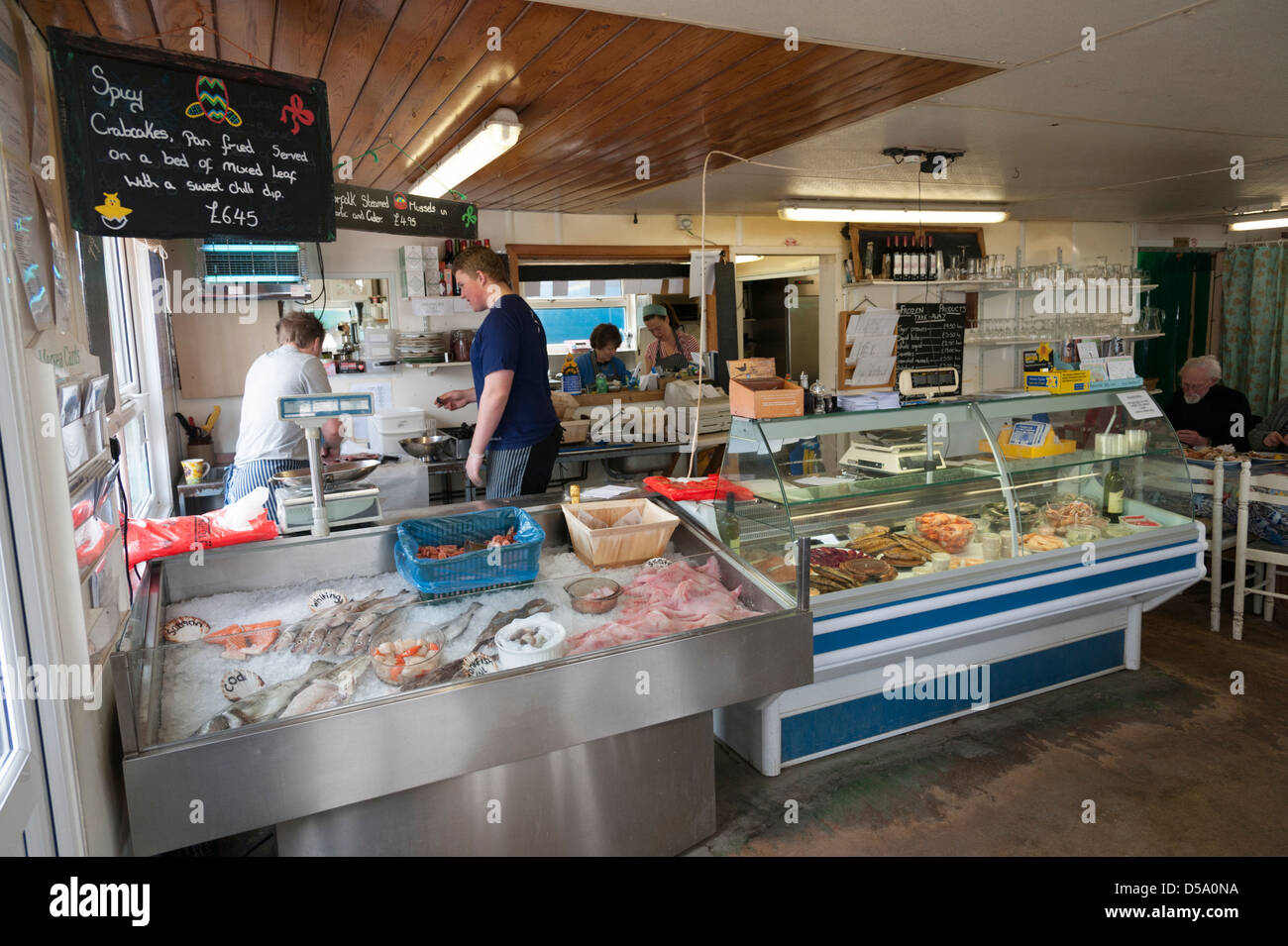 Inside the company shed fish shop cafe and restaurant for Fresh fish shop near me