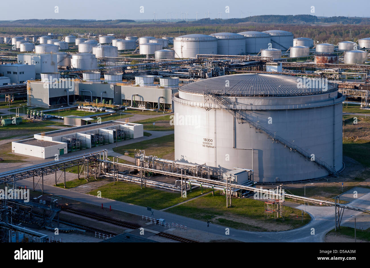 Schwedt Oder Germany Fuel Depot On The Grounds Of The