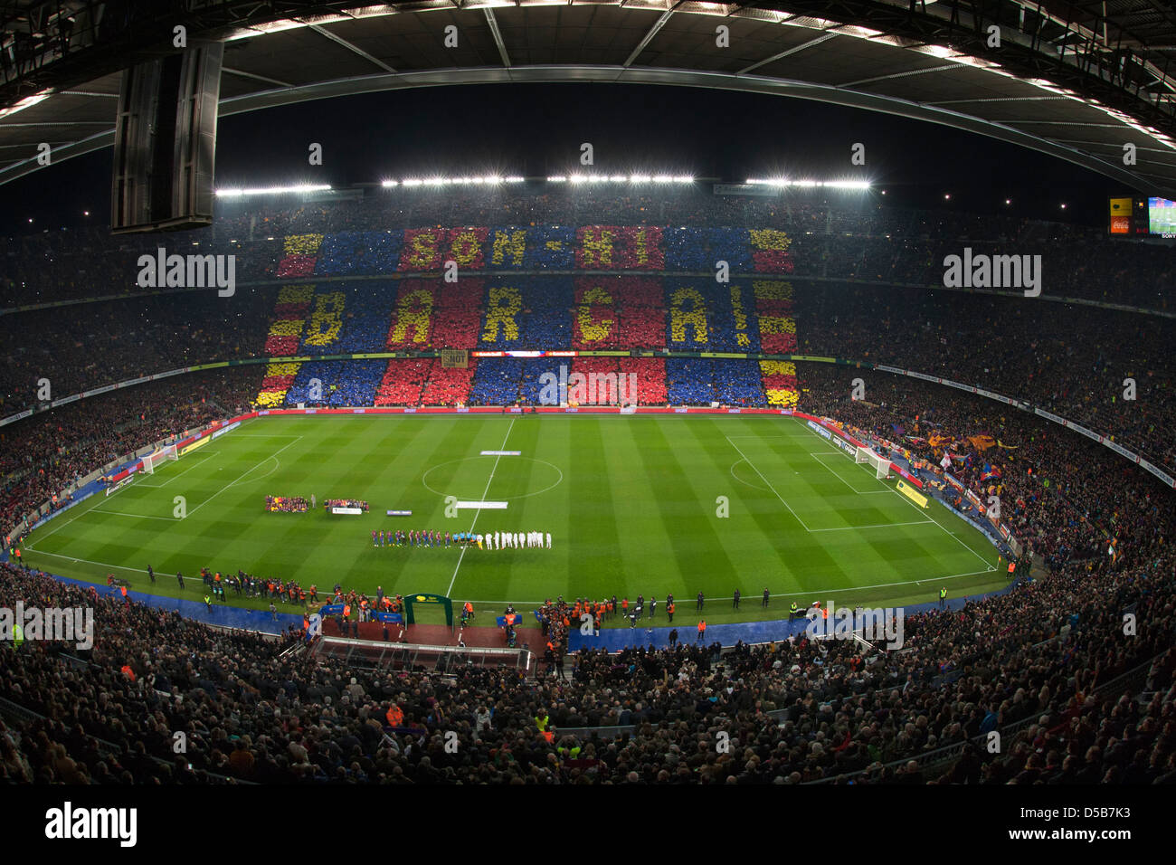 barcelona spain fc barcelona vs real madrid at the camp nou stadium