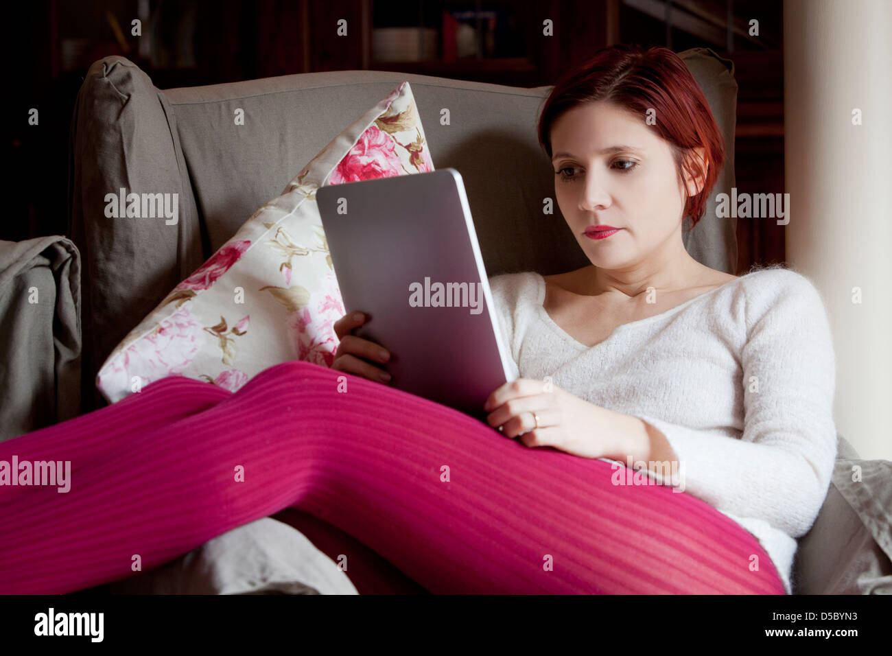 Woman reading an ebook stock photo royalty free image 54967615 stock photo woman reading an ebook fandeluxe Ebook collections