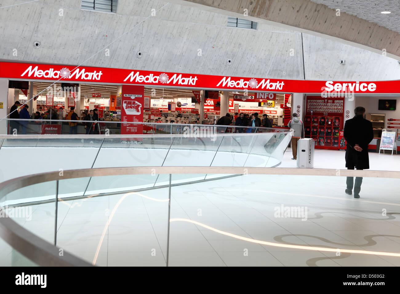 media markt at wien mitte mall in vienna stock photo