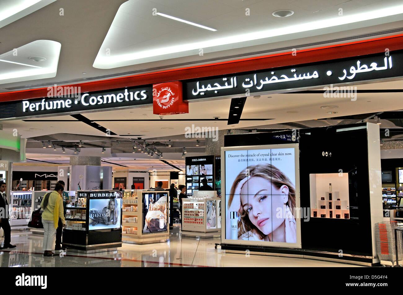 Perfume and cosmetics boutique duty free shop dubai for Boutique spa dubai