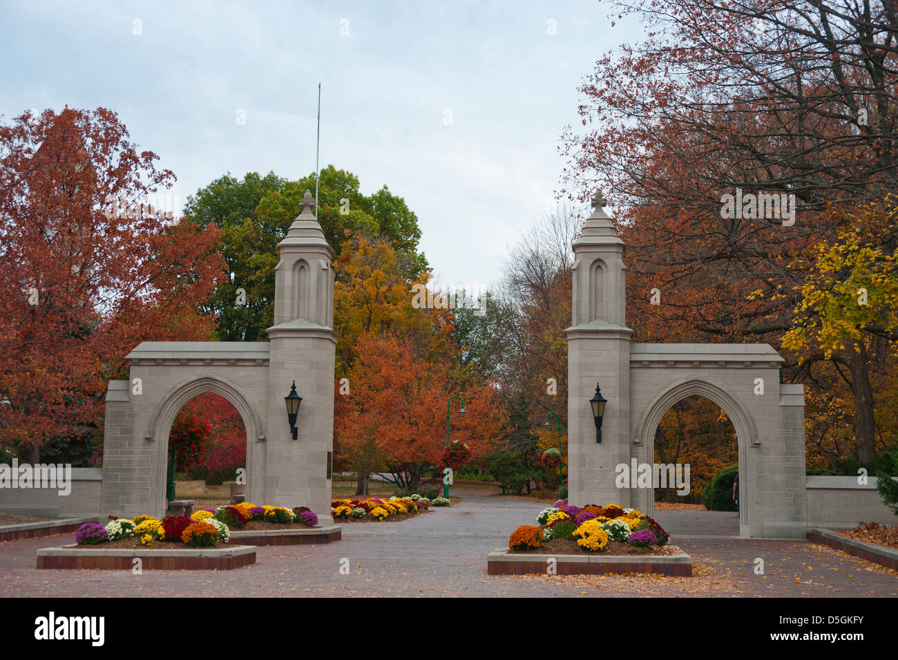 The Entrance To The Campus At Indiana University In