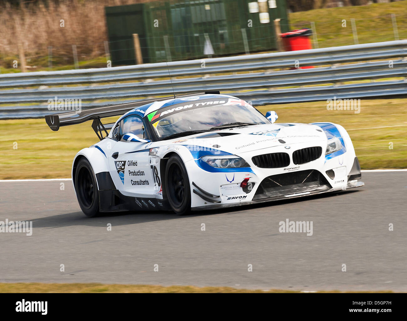 BMW Z$ GT3 Sports Racing Car in British GT Championship at Oulton ...