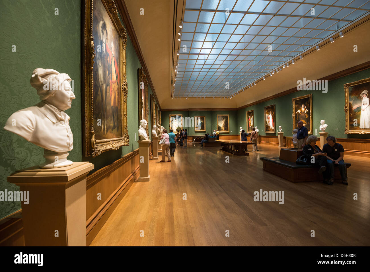 The interior of the beautiful huntington art gallery at for Best art galleries in the world