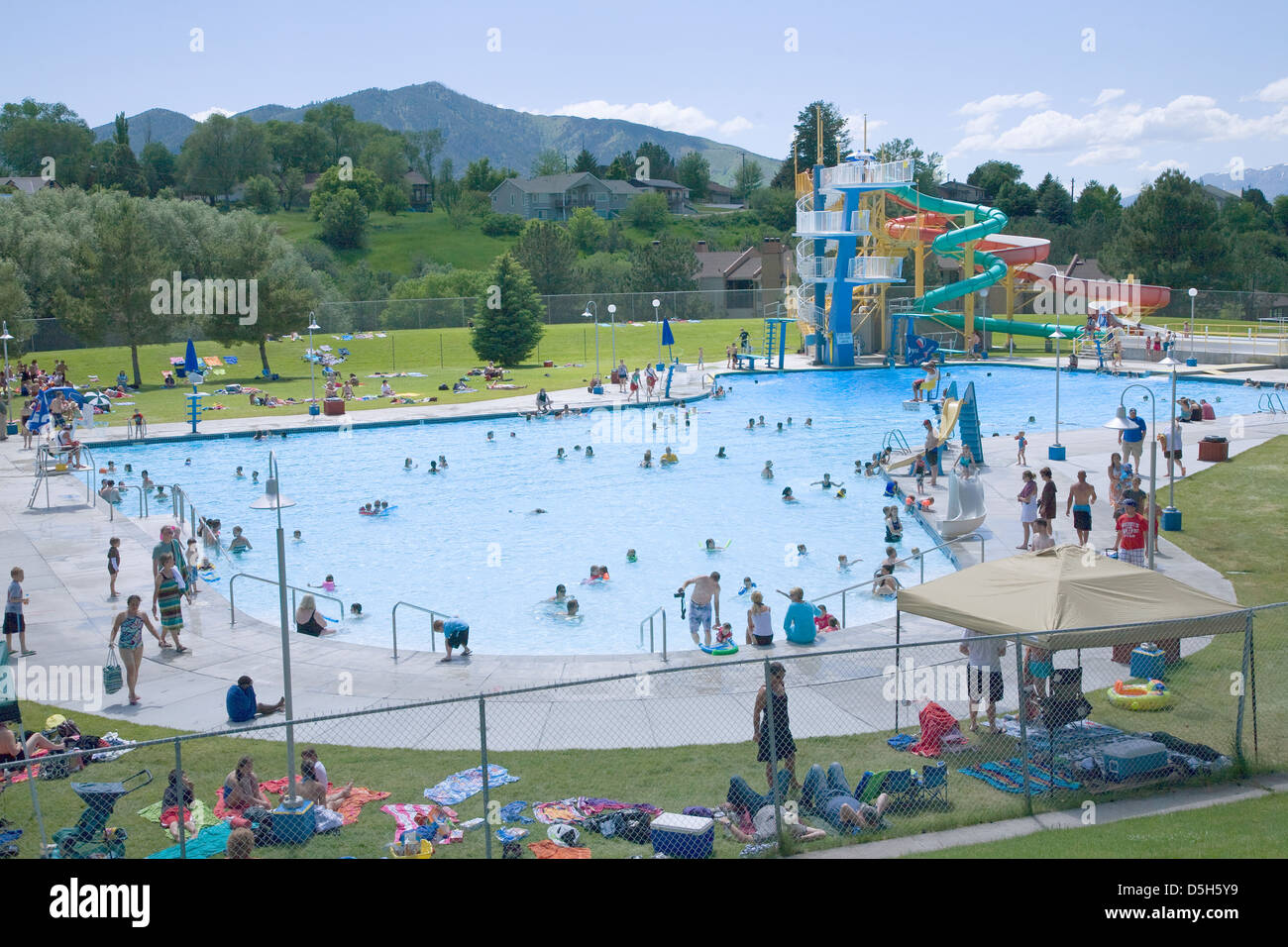 Summer Swimming Pool In Idaho North Of Salt Lake City Utah Stock Photo Royalty Free Image