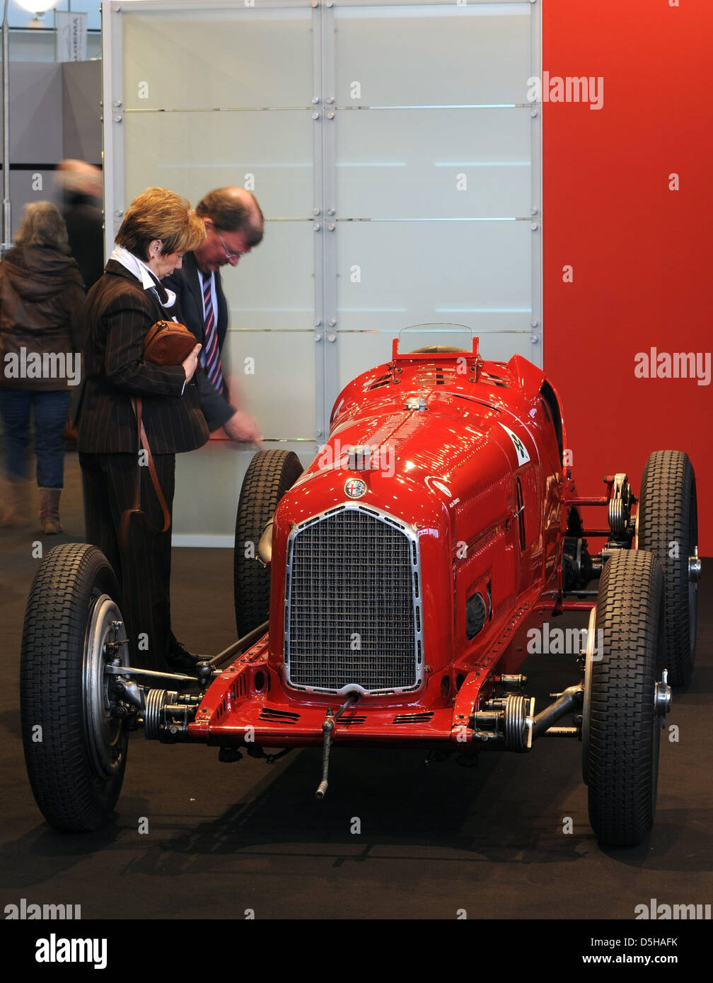 Visitors Check Out Alfa Romeo Grand Prix Race Cars From The