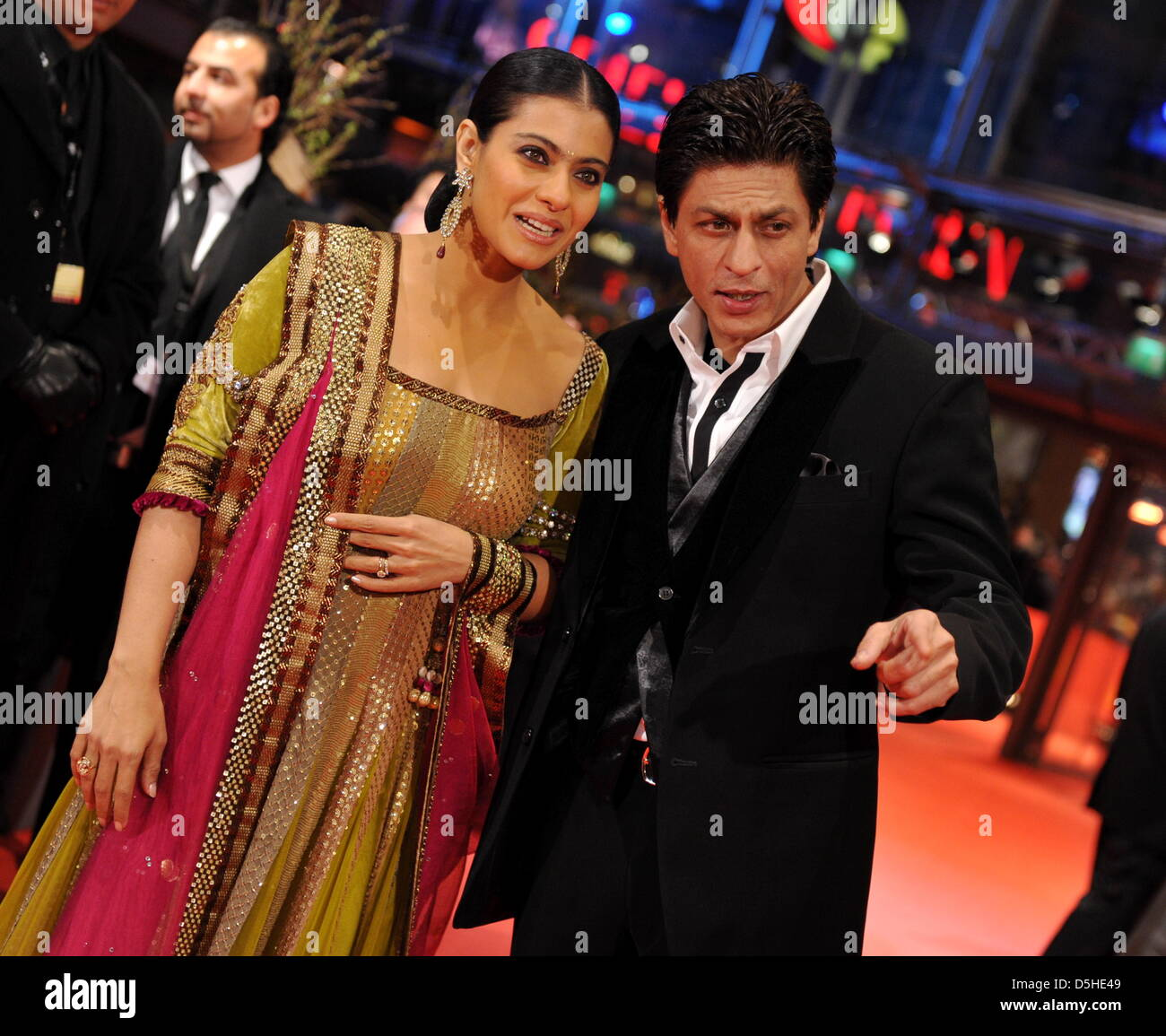 Indian Actor Shah Rukh Khan And Actress Kajol Devgan Arrive For The Premiere Of