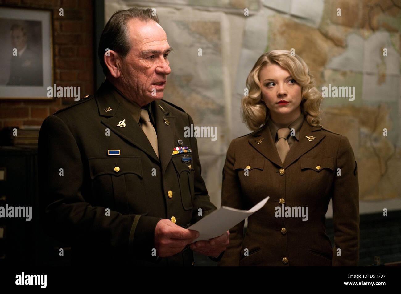 Captain america the first avenger 2011 - Stock Photo Tommy Lee Jones Natalie Dormer Captain America The First Avenger 2011