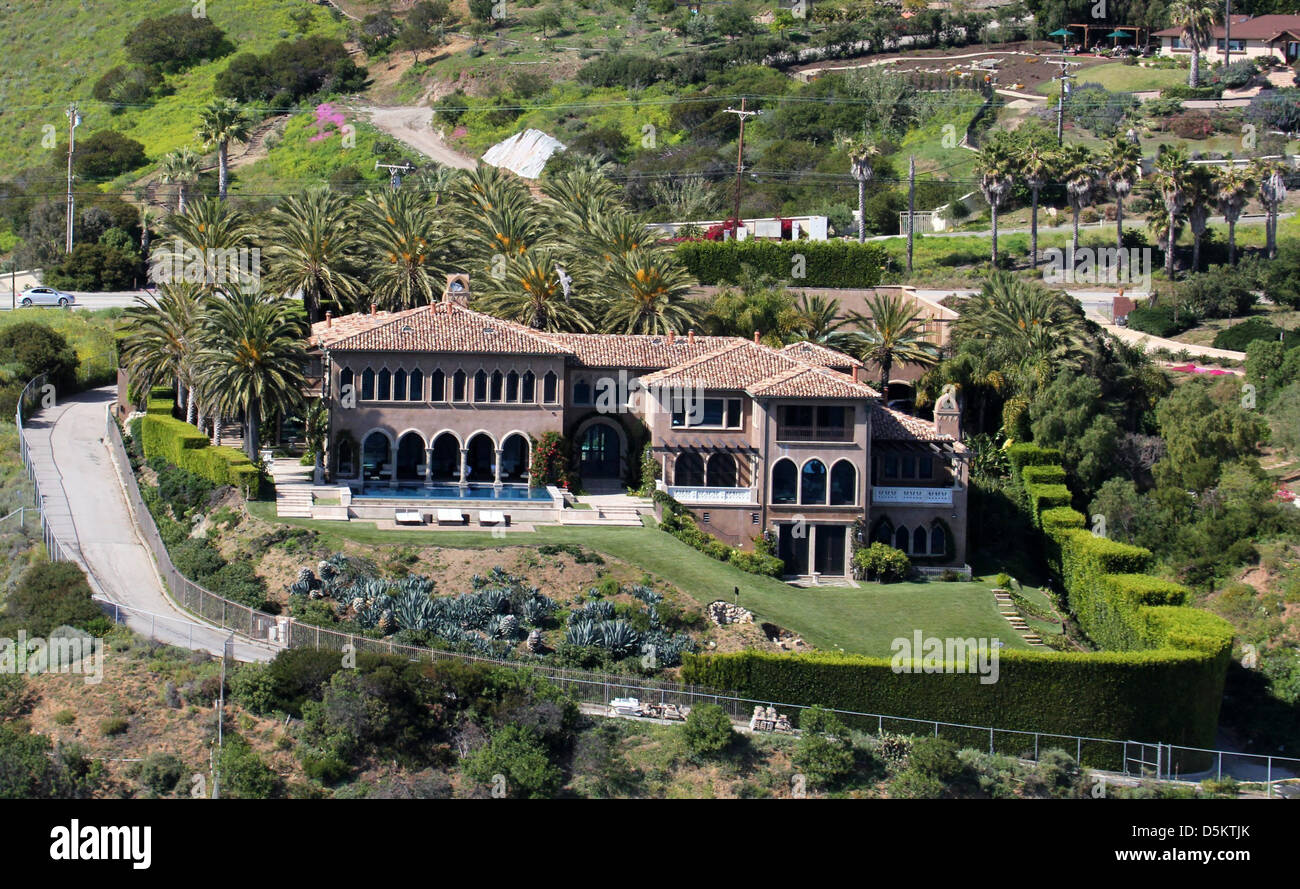 Aerial View Of Cher S Home In Malibu Los Angeles