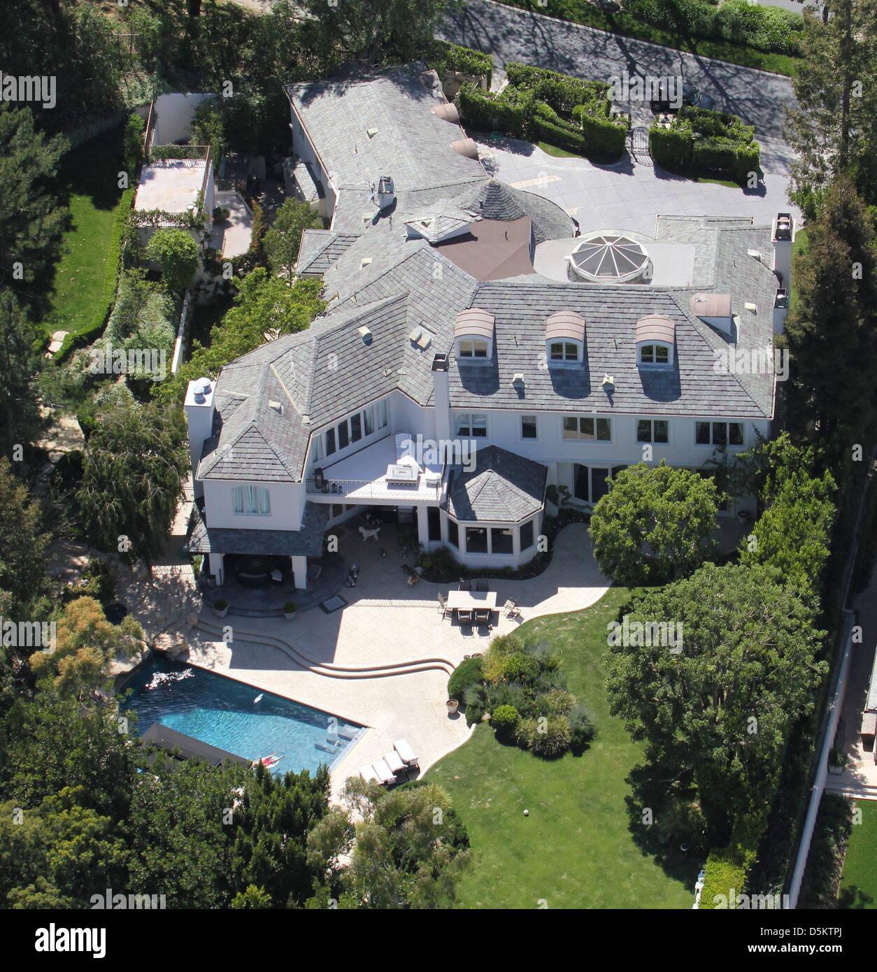 Aerial View Of Robbie Williams U0027 Home In Los Angeles. Los Angeles, Californa