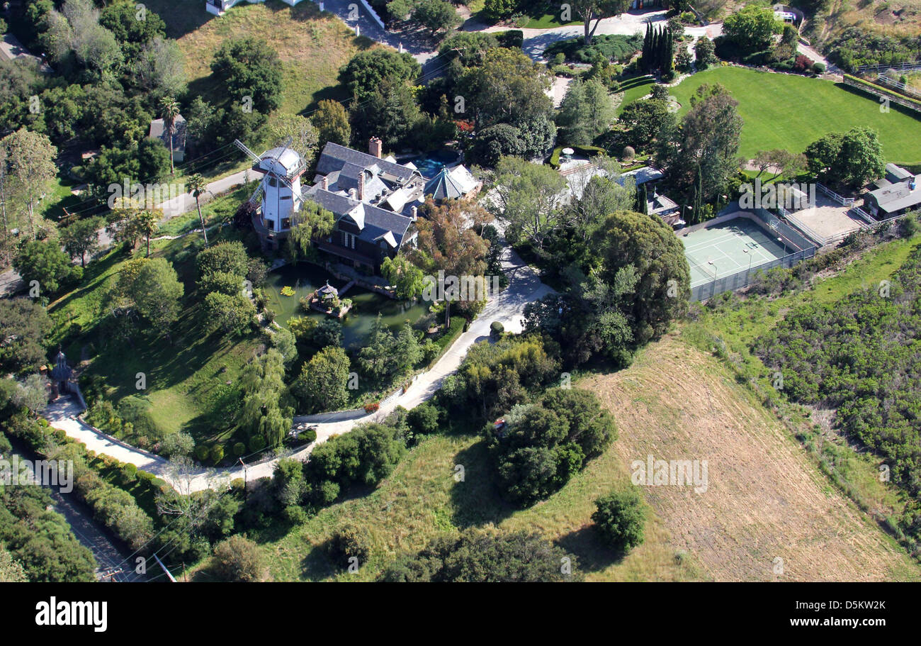 Aerial View Of Thomas Gottschalk S Windmill And Home In