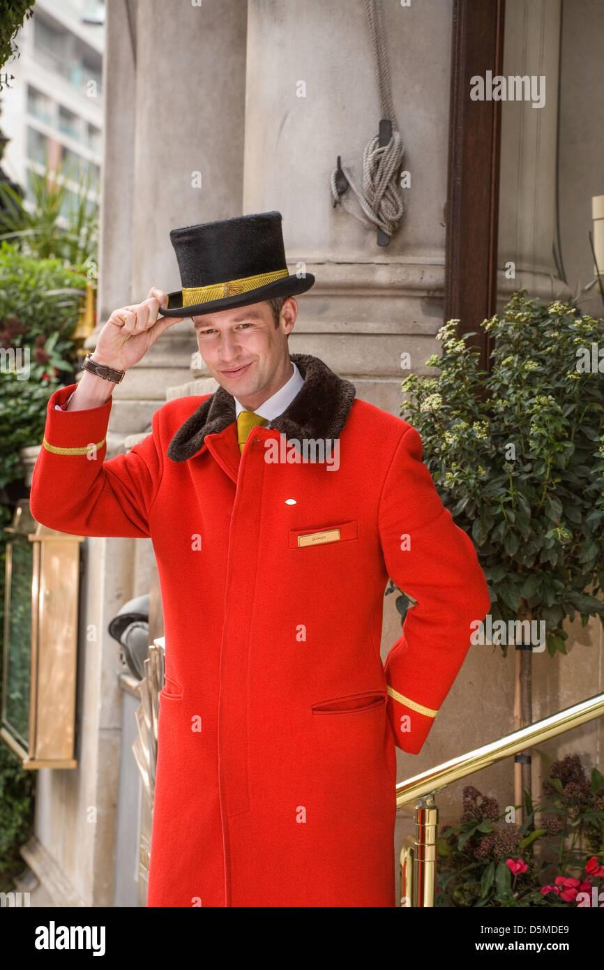 London Uk Luxury Hotel Doorman Stock Photo Royalty Free