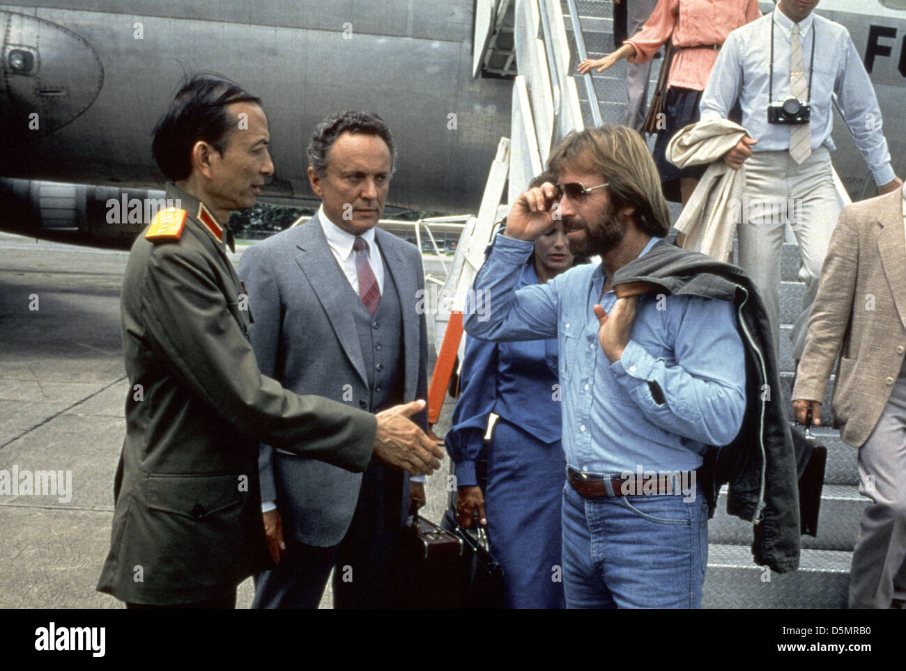 james hong amp chuck norris missing in action 1984 stock