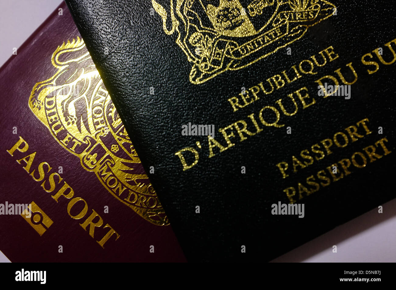 An Image Of A South African And A British Passport Together How To Get