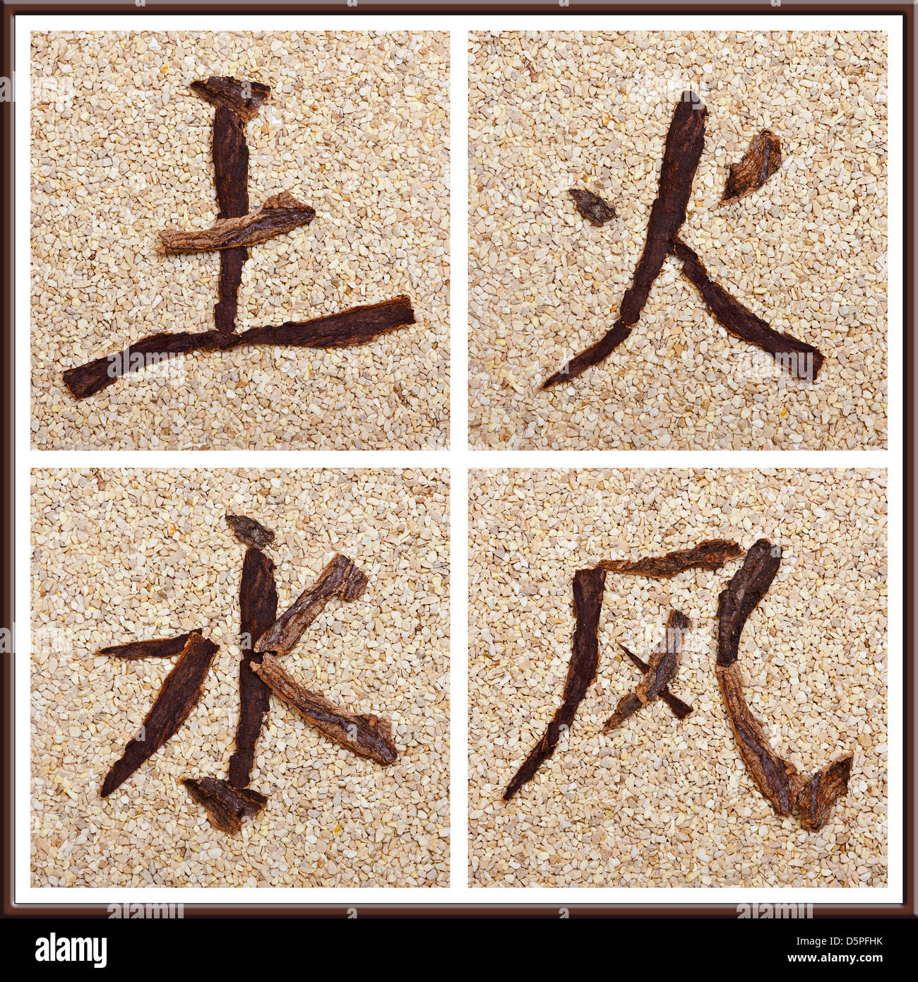Chinese symbols for earth fire water air stock photo royalty chinese symbols for earth fire water air buycottarizona