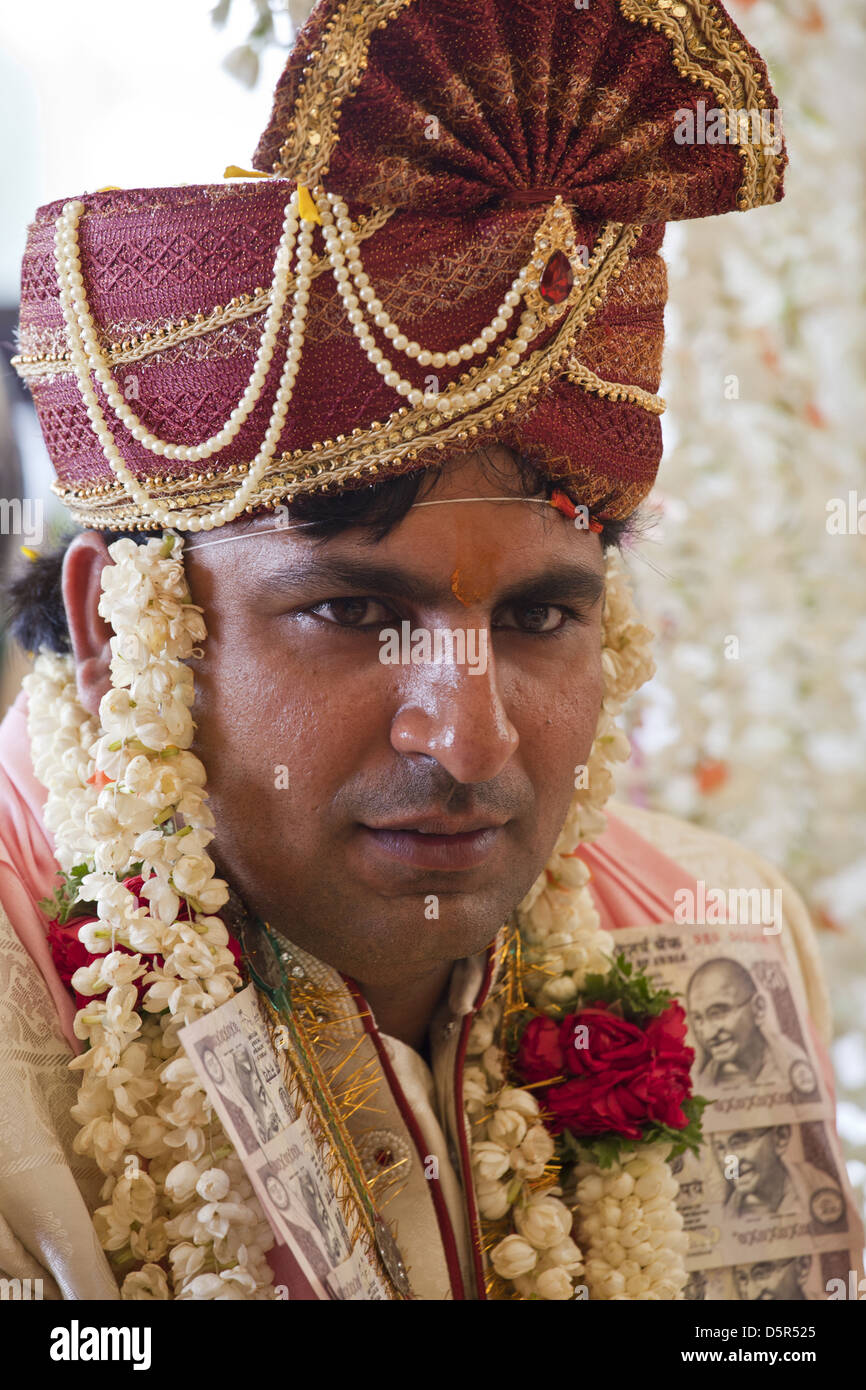Handsome Indian Groom At His Wedding