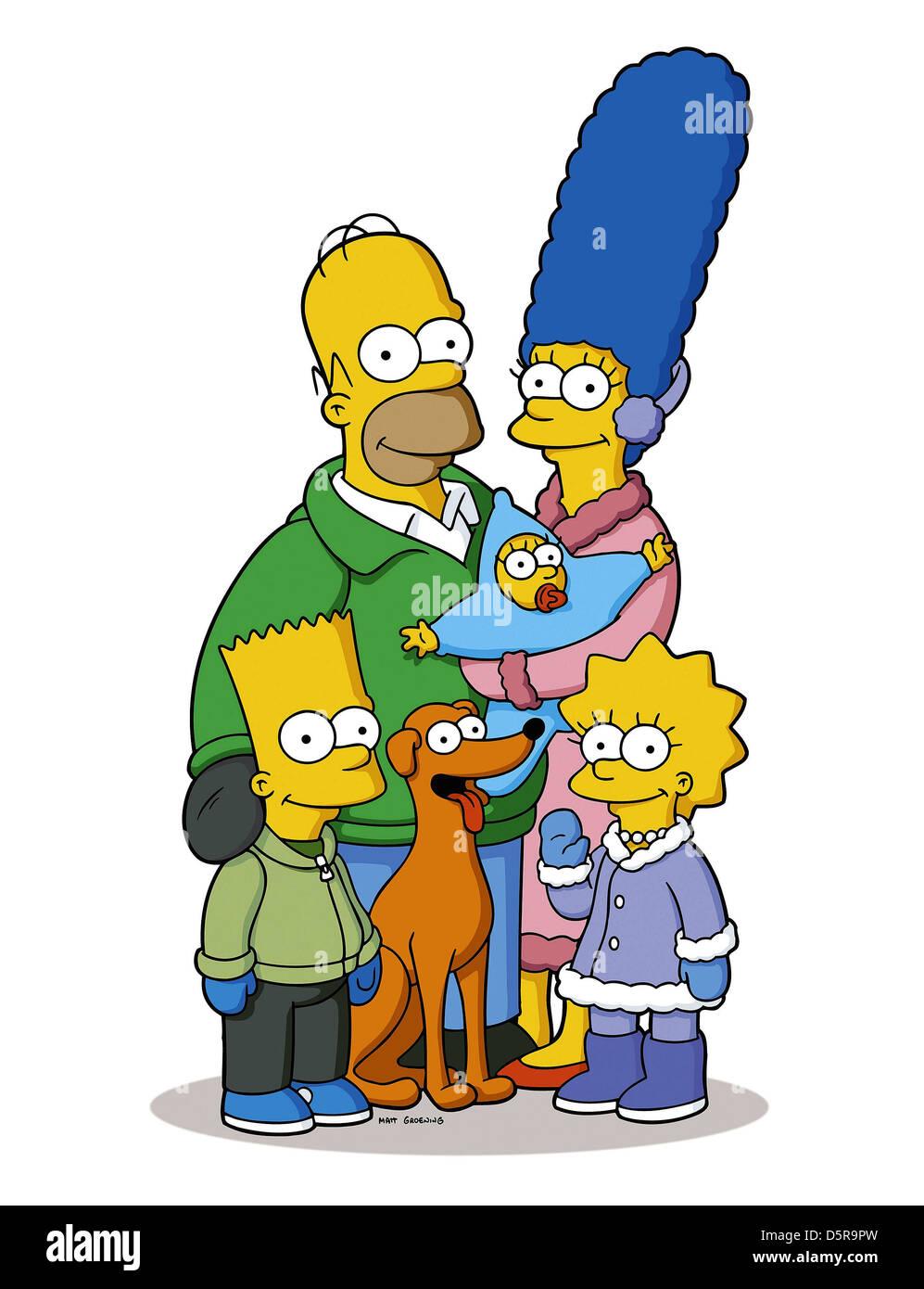 Bart simpson homer simpson santa 39 s little helper maggie simpson marge stock photo royalty free - Marge simpson et bart ...