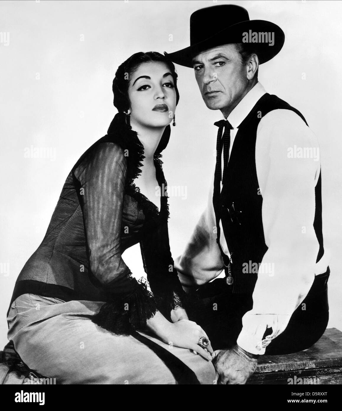 katy jurado amp gary cooper high noon 1952 stock photo