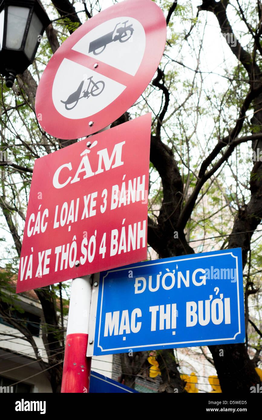 Street and traffic signs in vietnamese language in downtown ho chi street and traffic signs in vietnamese language in downtown ho chi minh city vietnam biocorpaavc
