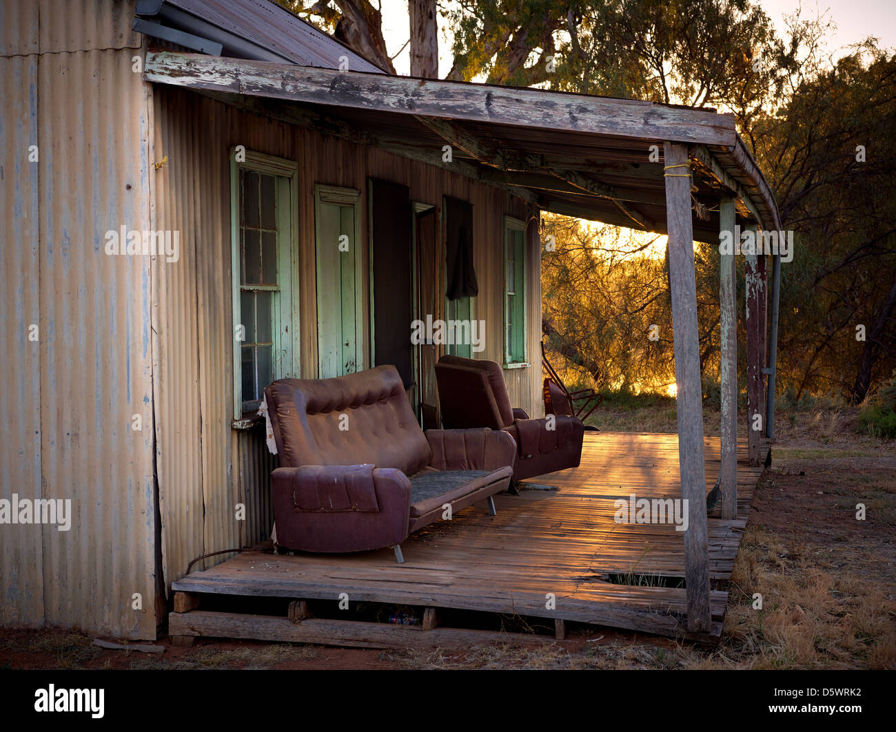 tin corrugated iron shed hut in field stock photo royalty free