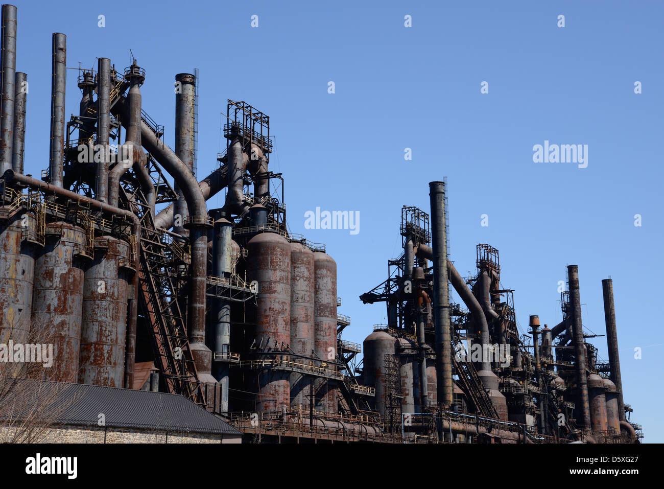 The old Bethlehem Steel factory in Bethlehem, Pennsylvania ...