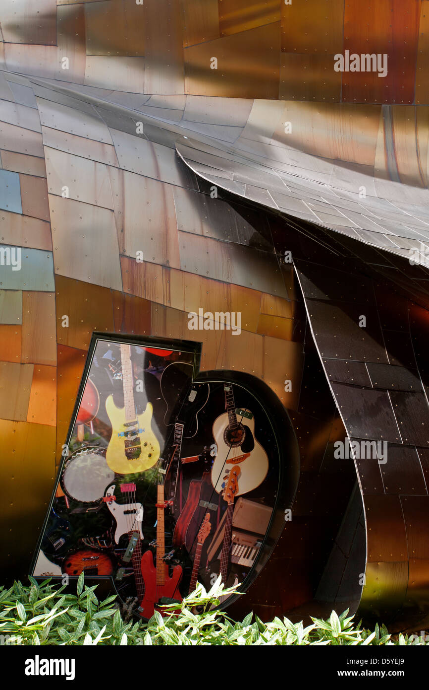 The Experience Music Project Museum Seattle USA Stock Photo - Music museums in usa