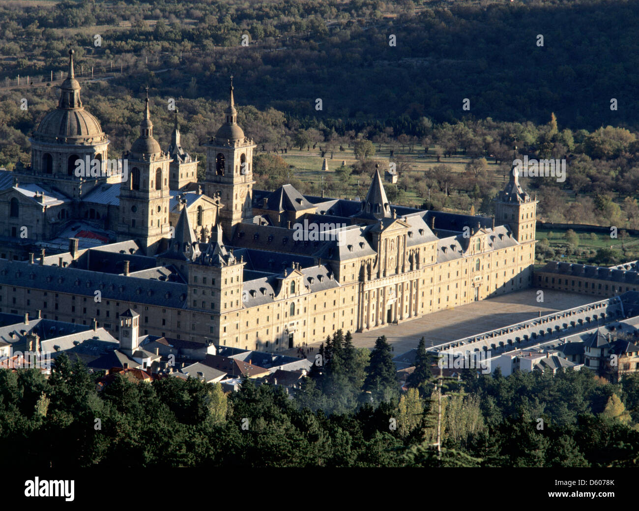 Royal Seat of San Lorenzo de El Escorial. Juan de Herrera (1530-1597 Stock Ph...