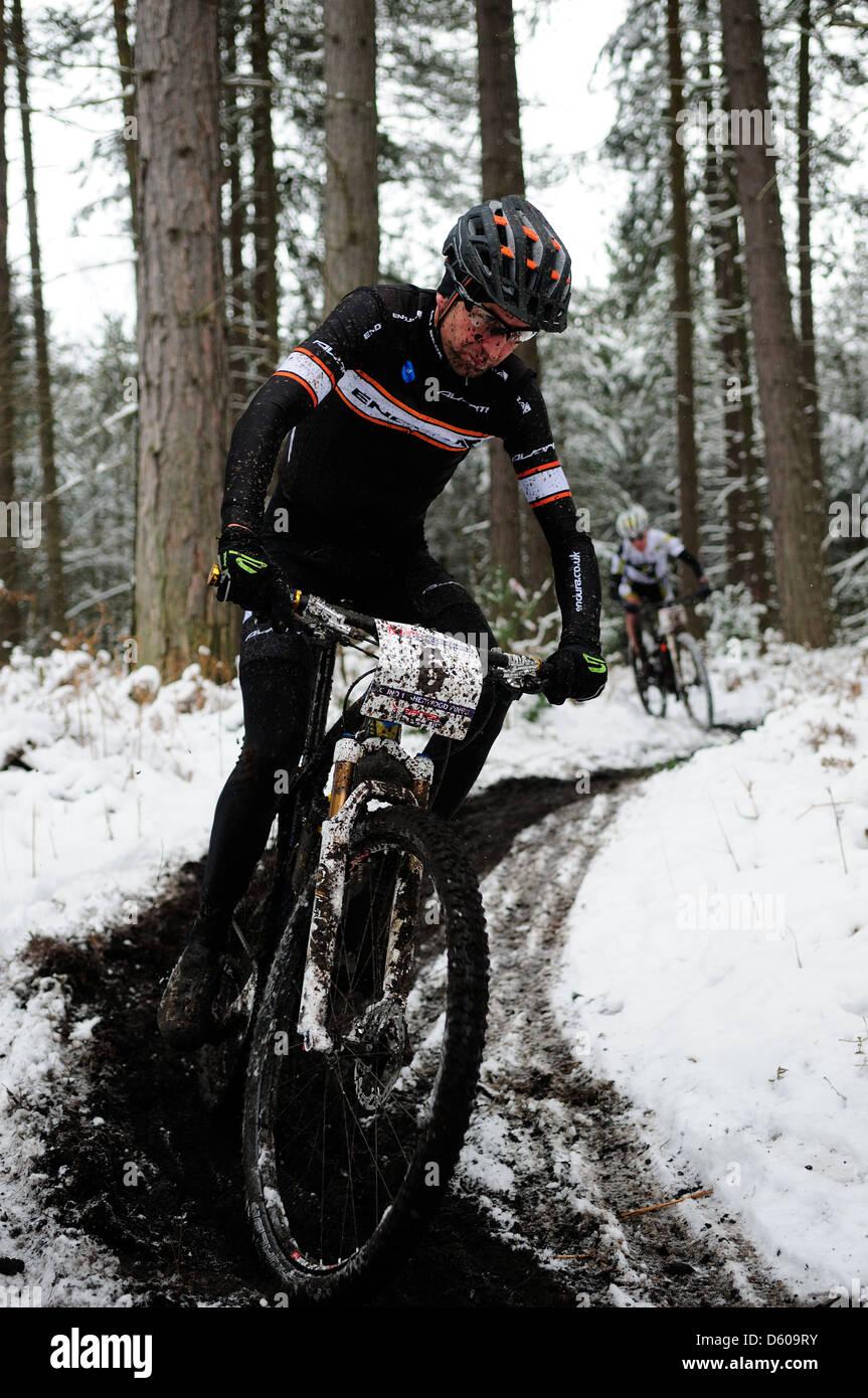 Sherwood Pines Xc Mtb Round 1 2013 Stock Photo Royalty Free Image