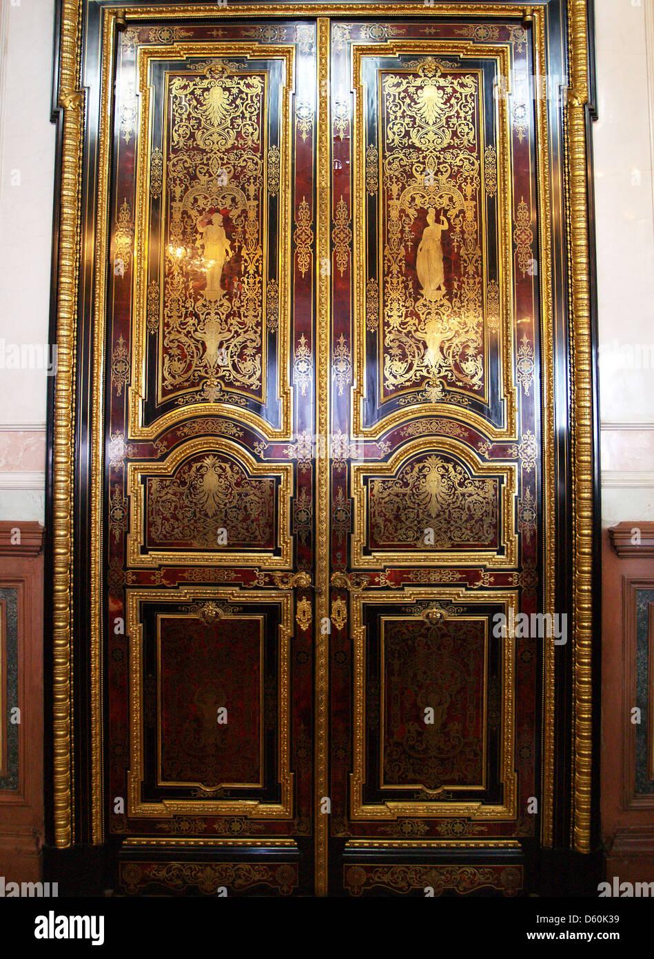 Interior doors in the Hermitage Museum Saint Petersburg & Interior doors in the Hermitage Museum Saint Petersburg Stock ...